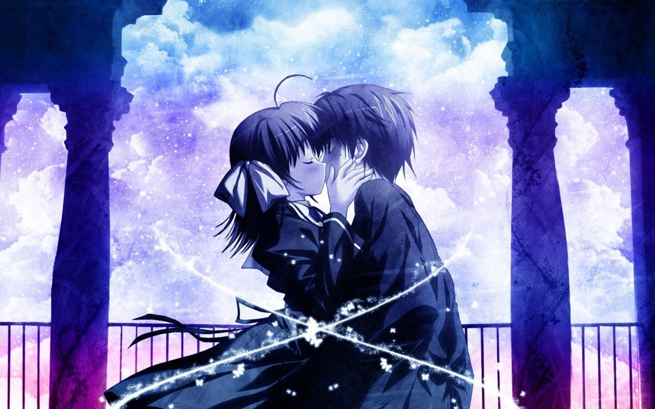 Animated Love Kiss Wallpaper : Anime Kissing Wallpaper - WallpaperSafari
