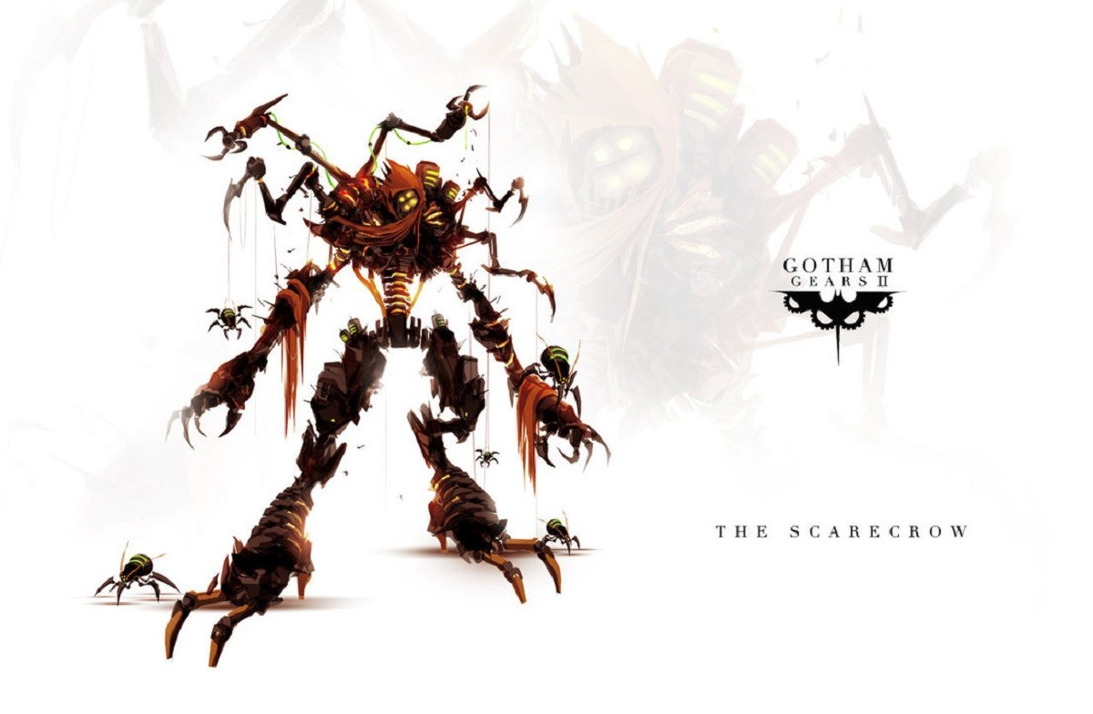 Batman Scarecrow character Gotham Gears Artwork 1200x784