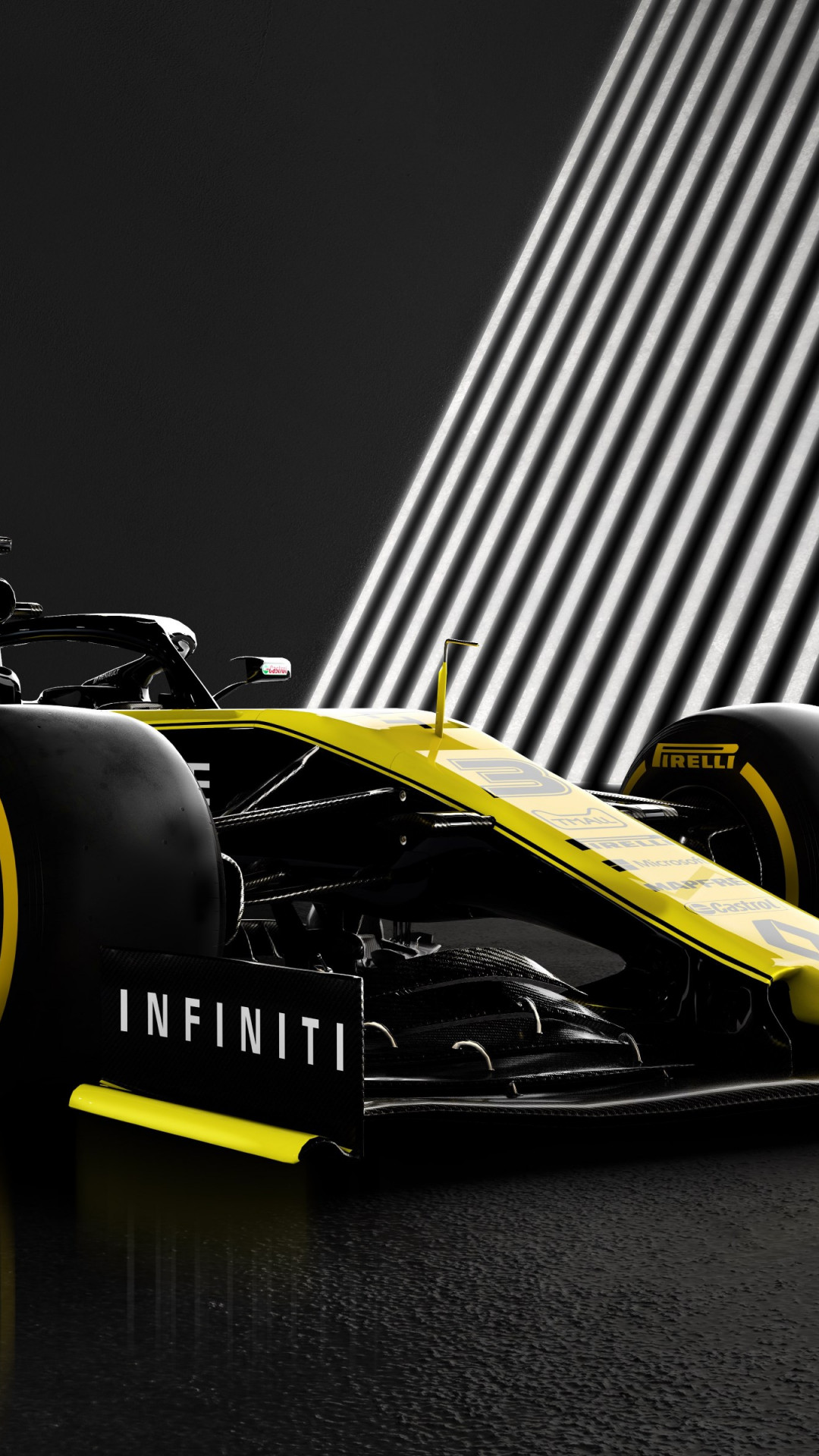 Download wallpaper Renault F1 RS19 1080x1920 1080x1920