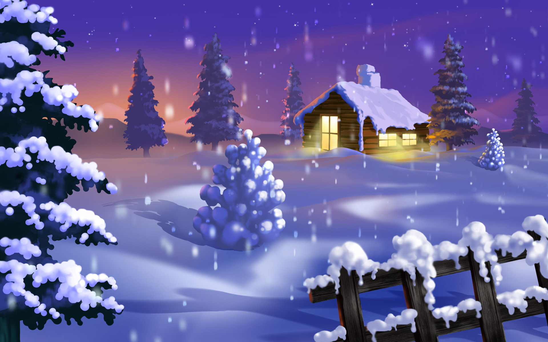 1920x1200 Silent Winter desktop PC and Mac wallpaper 1920x1200