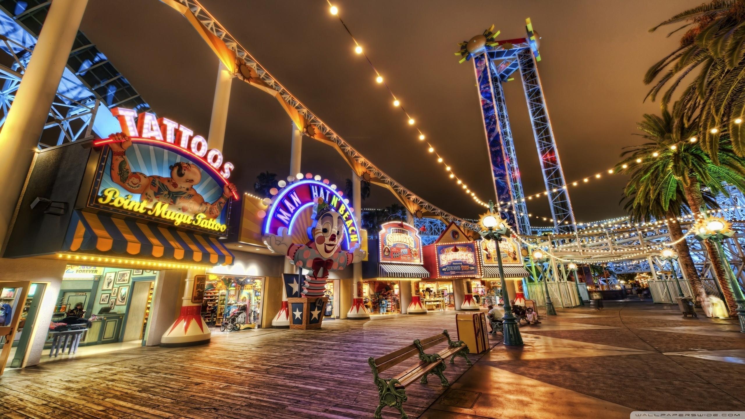 Amusement Park HDR 4K HD Desktop Wallpaper for 4K Ultra HD TV 2560x1440
