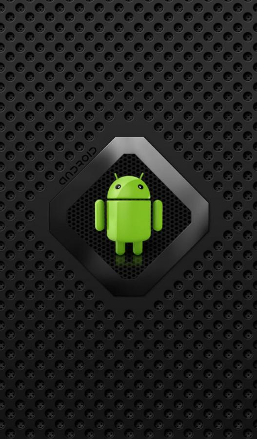 In This live wallpaper a beautiful Android with Black flames and 527x900