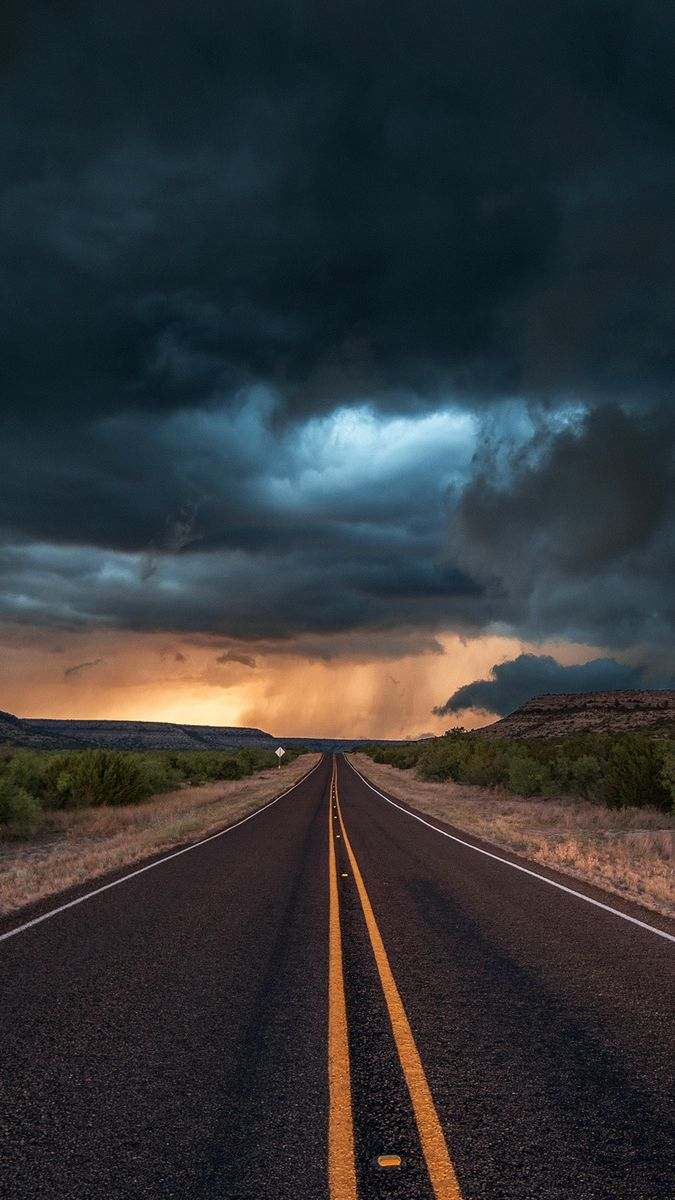 road state texas clouds iPhone Wallpaper Papel de parede 675x1200
