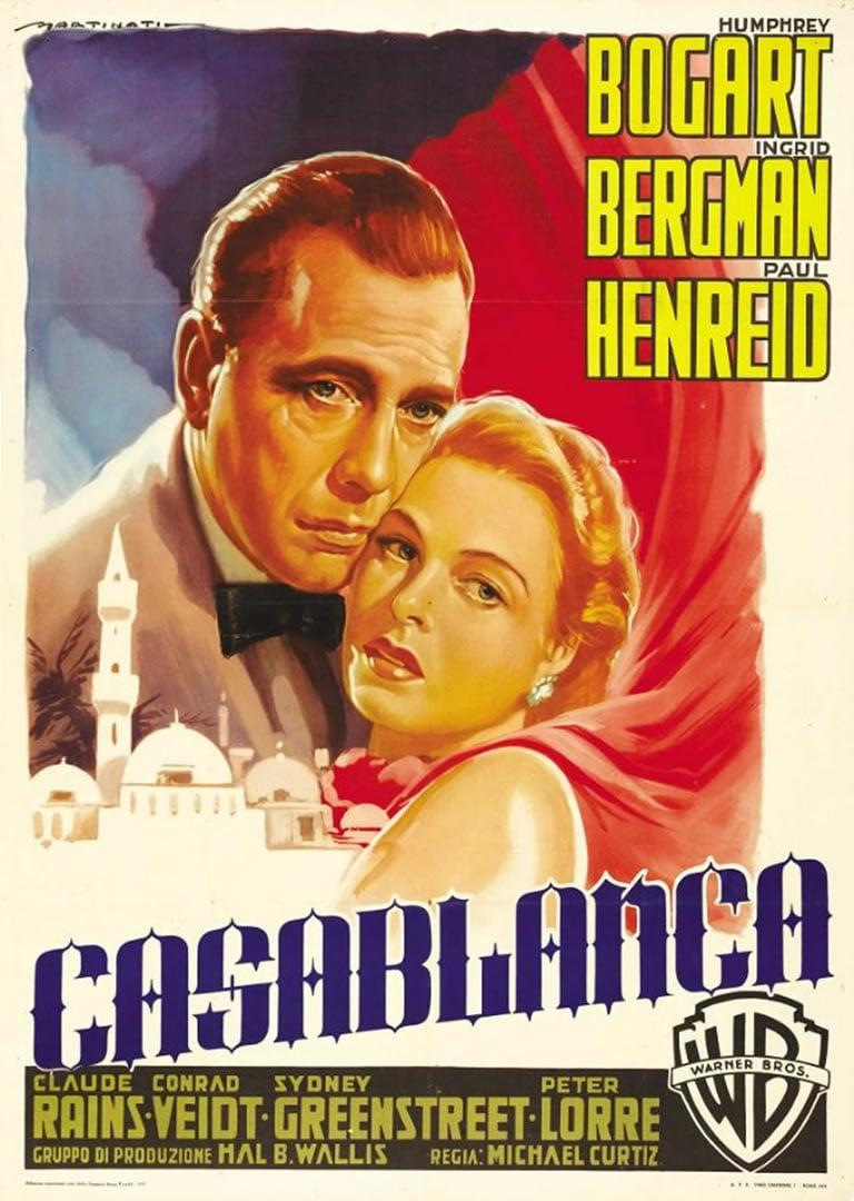 Classic Casablanca Movie Poster Wallpaper