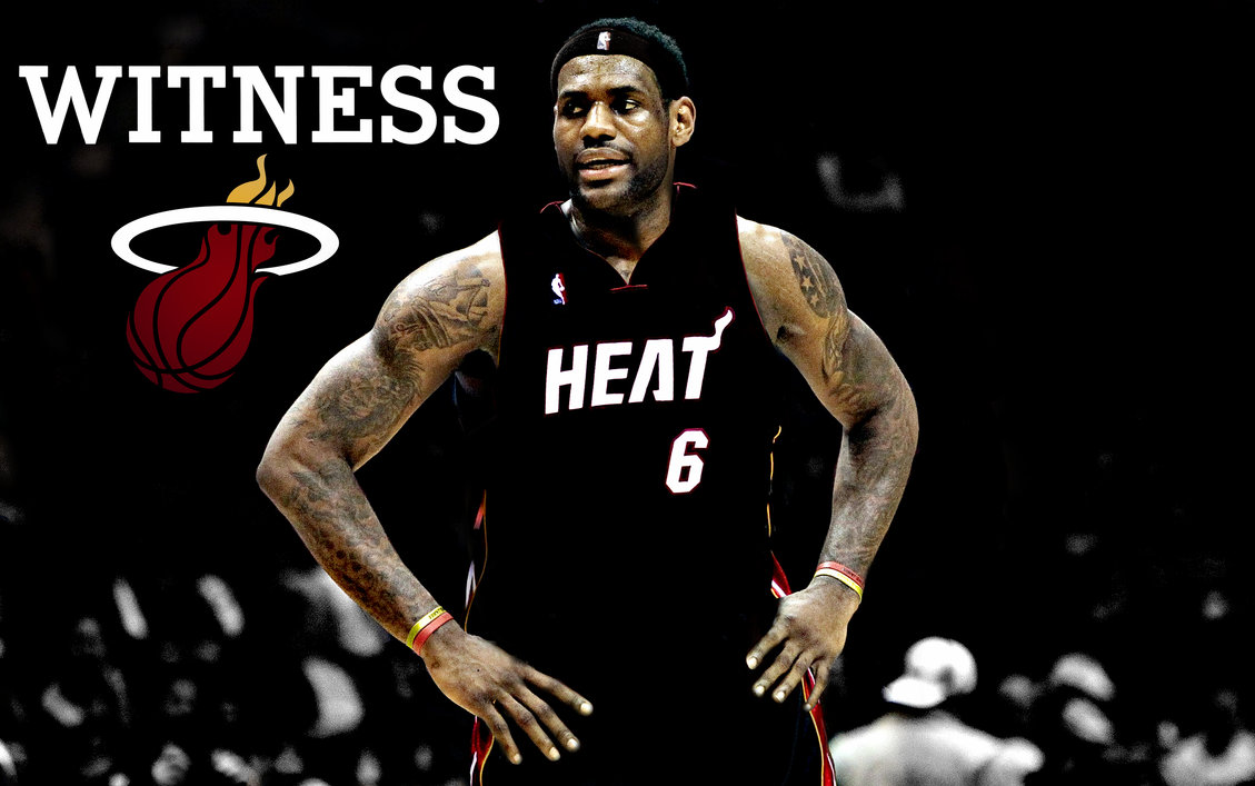 LeBron James Heat by rhurst 1129x707