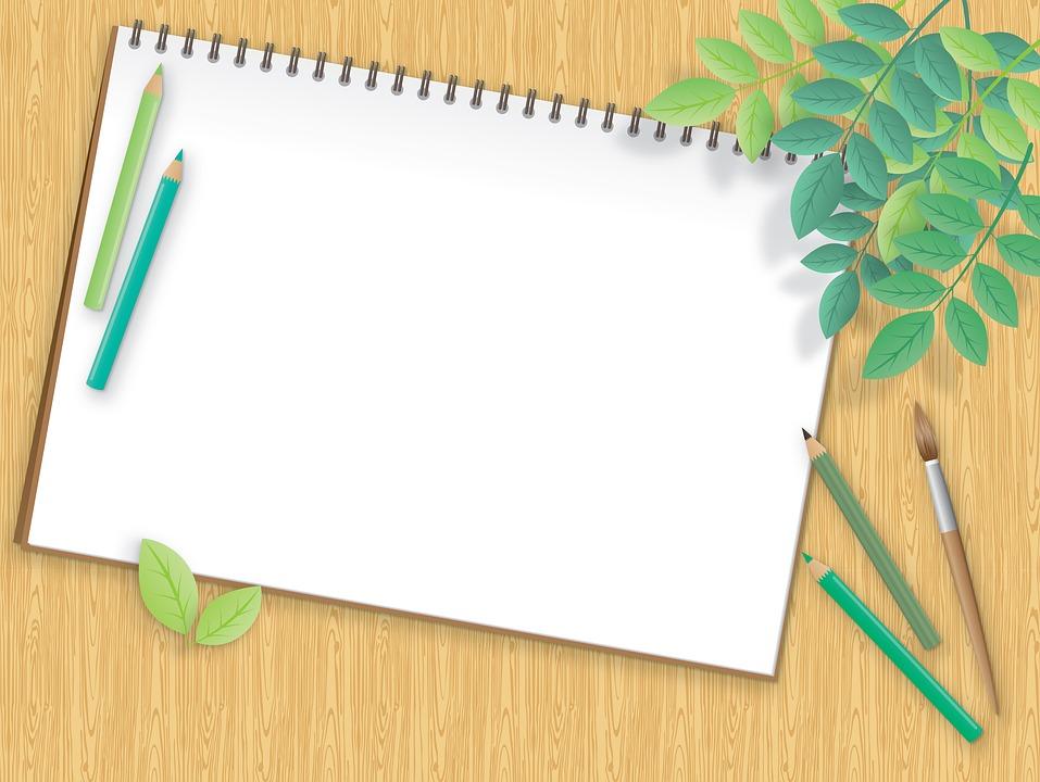 Desktop Background Paper Pencils   image on Pixabay 957x720