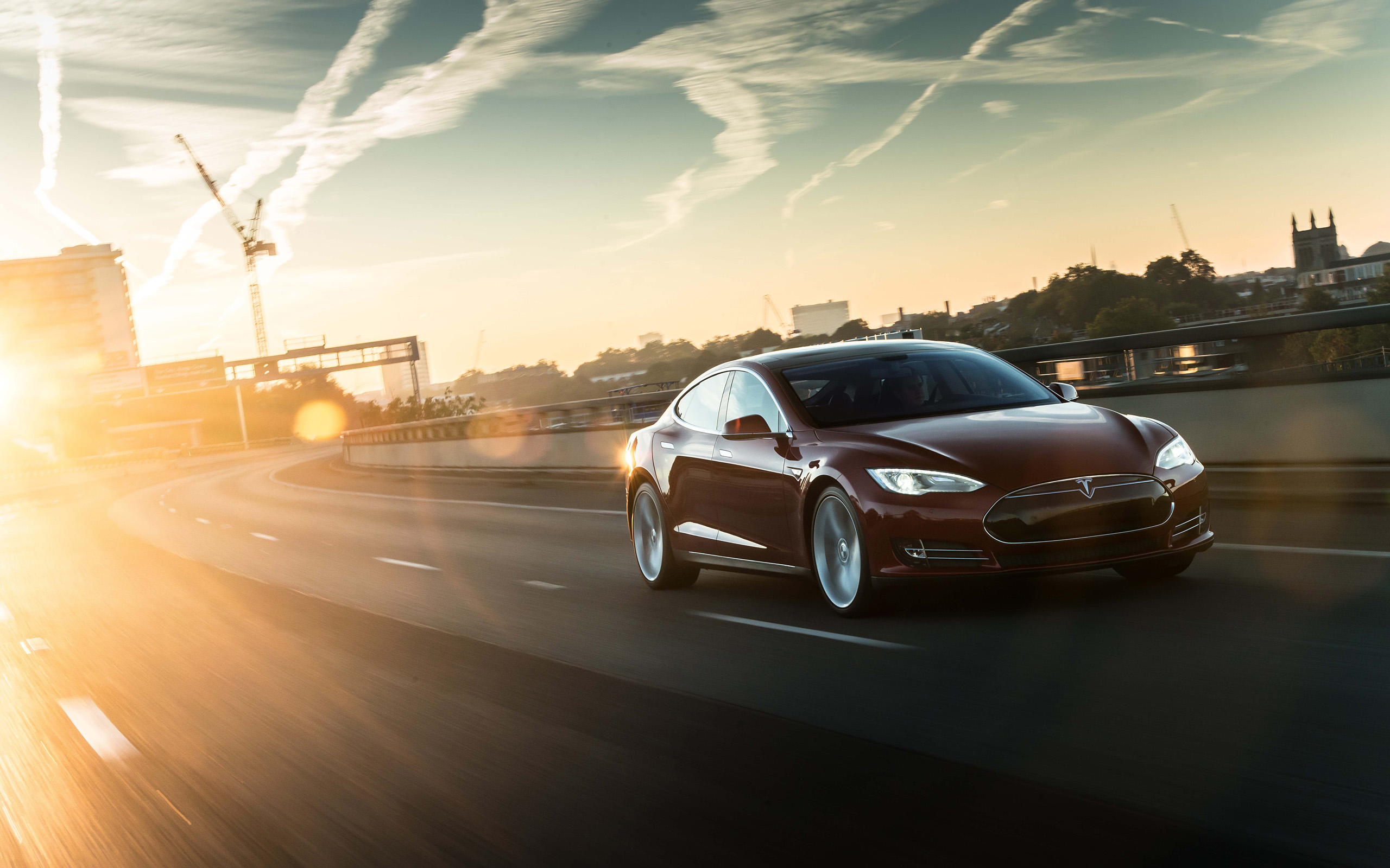 2014 Tesla Model S supercar d wallpaper background 2560x1600