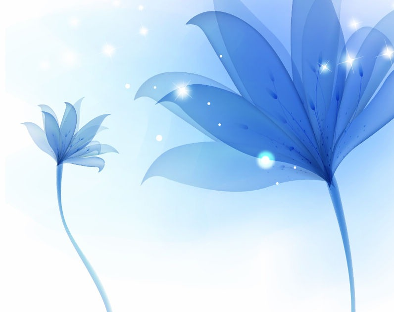 Blue Flower Background Vector Vector Graphics All 796x630