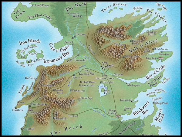 Westeros Map Wallpaper Map of westeros   detail by 600x453