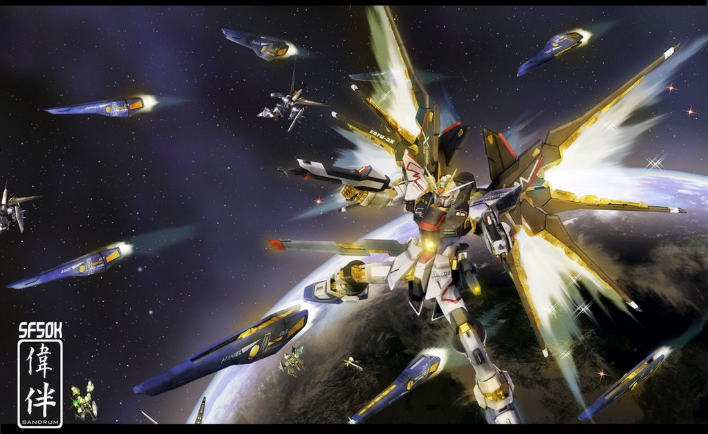 Strike Freedom Full Burst 50K by sandrum 1024x628