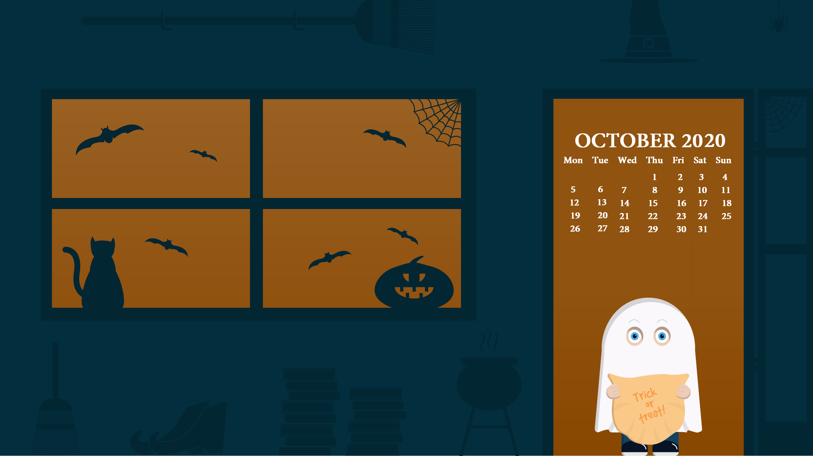 October 2020 Desktop Wallpaper Latest Calendar 2801x1573