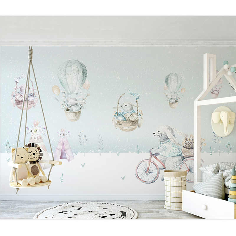 Detail Feedback Questions about Kids Wall Paper Cartoon Bunny 800x800