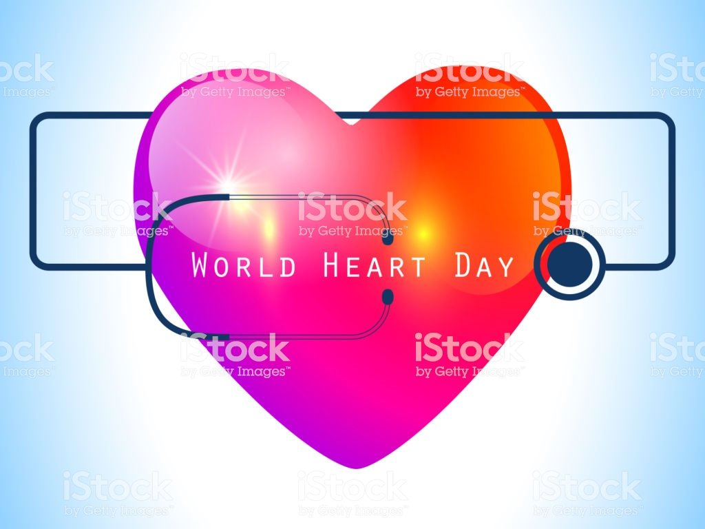 World Heart Day Red Heart Design Health Care Concept Vector 1024x768