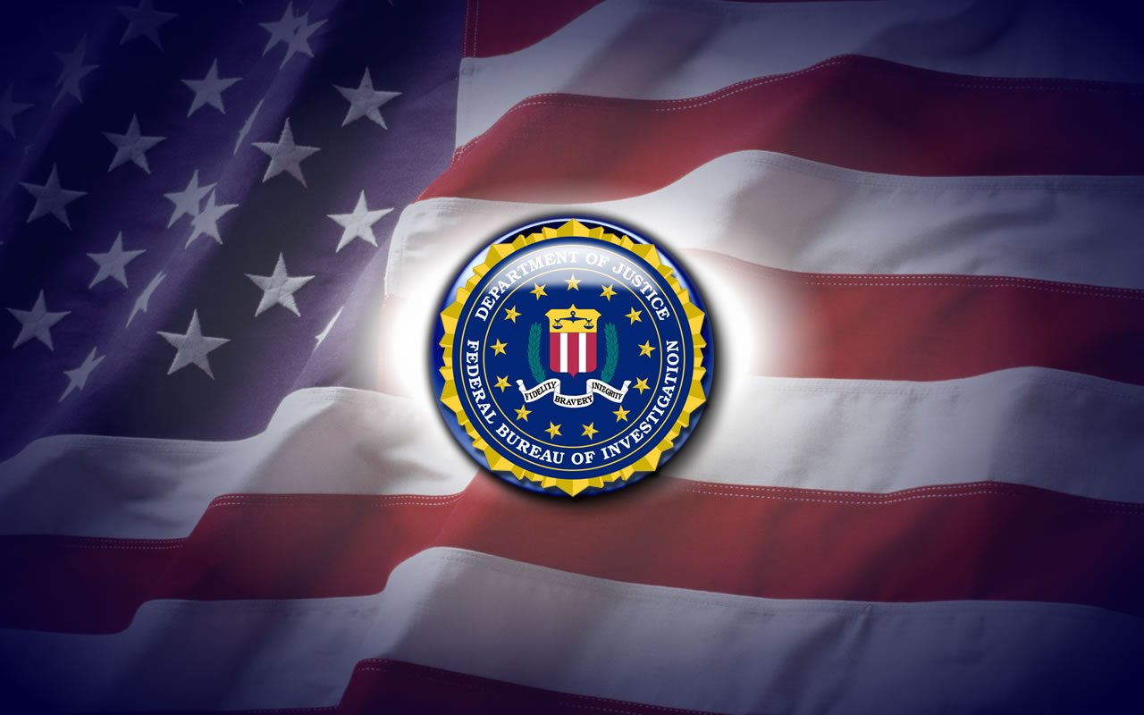 Wallpaper Desktop wallpaper FBI and American Flag 1280x800