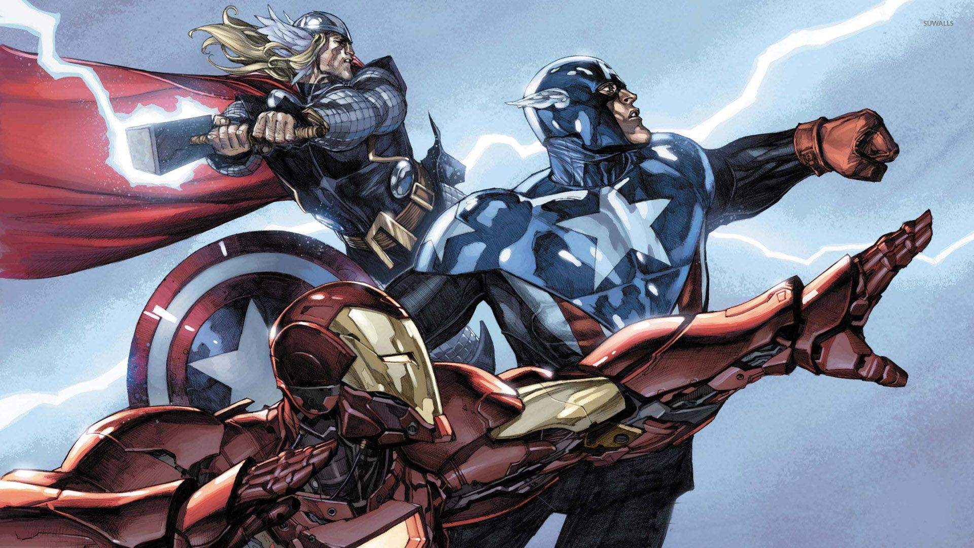 1920x1080px Captain America and Thor Wallpaper 1920x1080