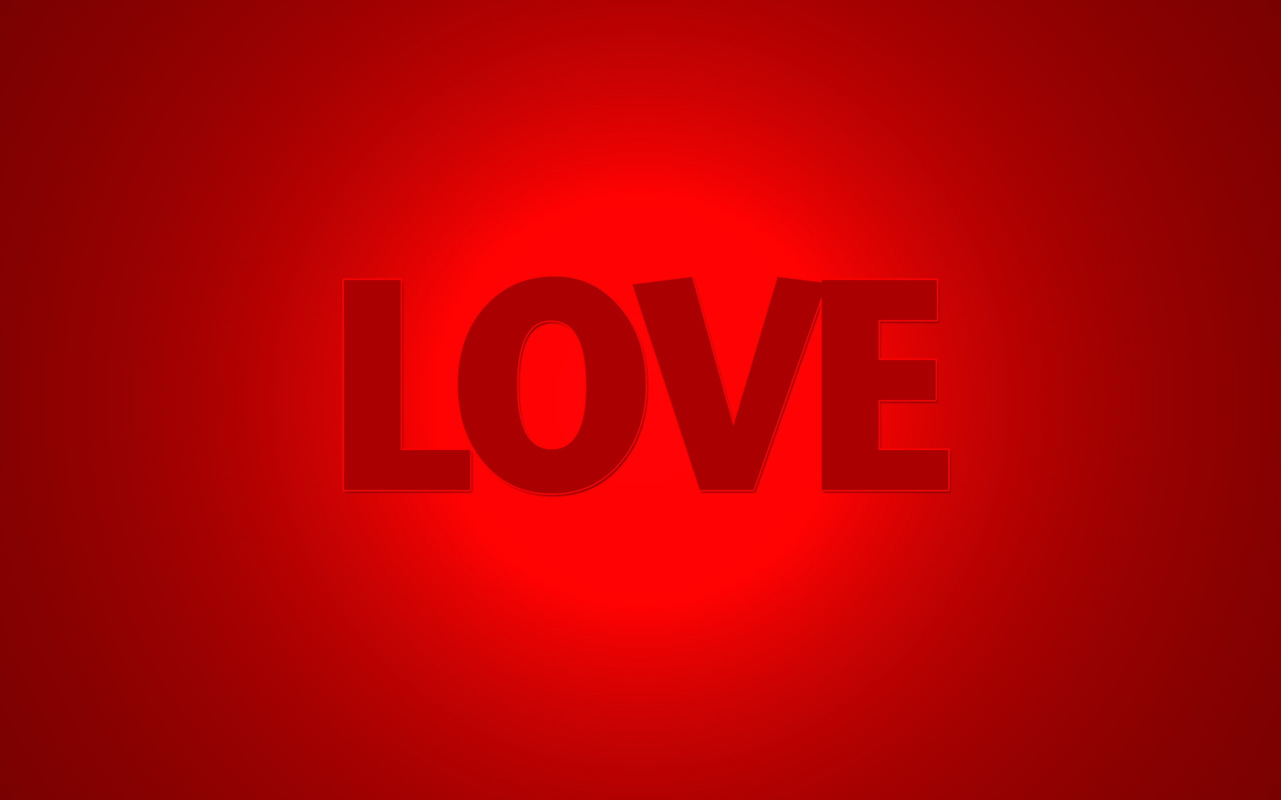 Pure Love Red Background   New HD Wallpapers 2560x1600