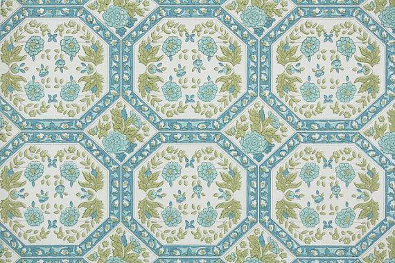1950s Vintage Wallpaper Geometric Wallpaper by HannahsTreasures 14 570x380