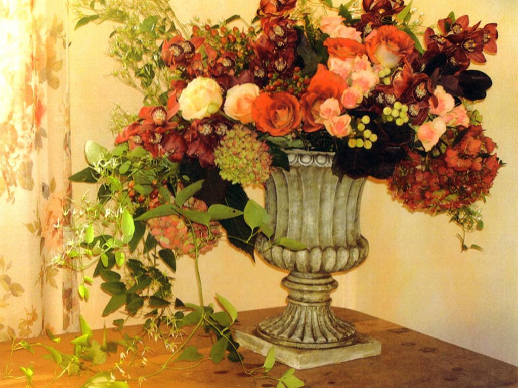 Fall Flower Arrangement HQ WALLPAPER 110321 1024x768