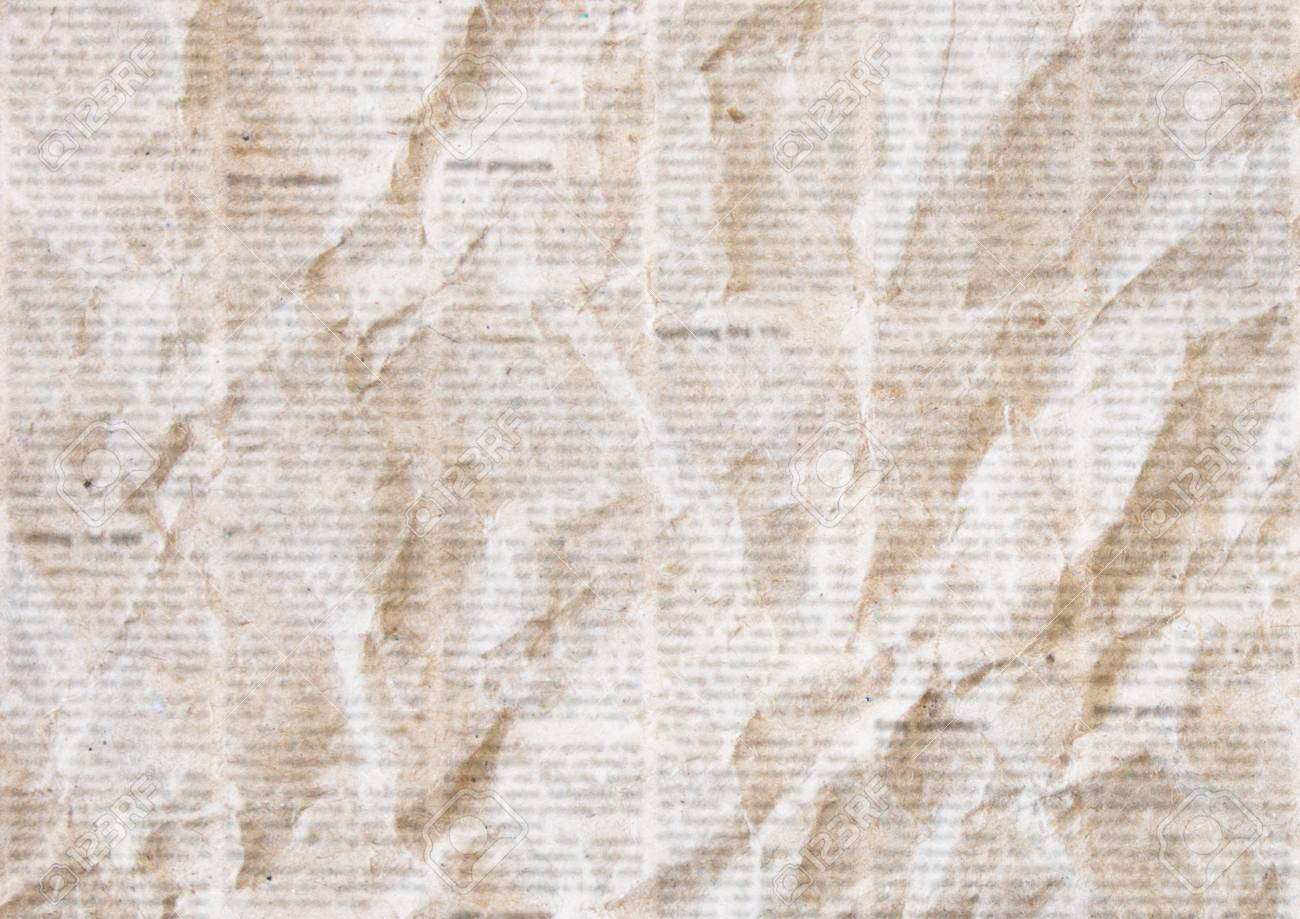 Old Crumpled Grunge Newspaper Paper Texture Background Blurred 1300x919