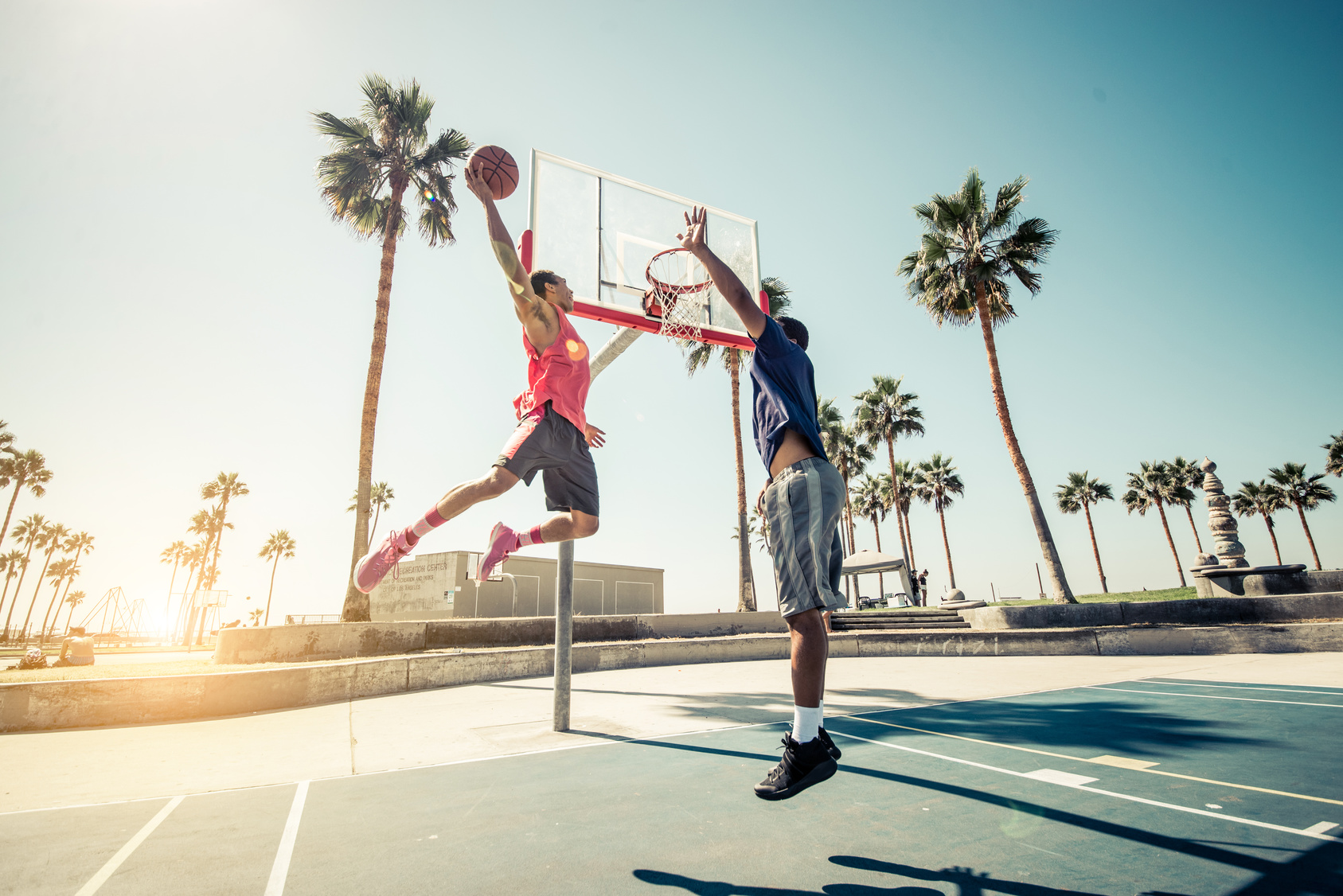 Playing Basketball in Venice Beach Venice Beach 1687x1126