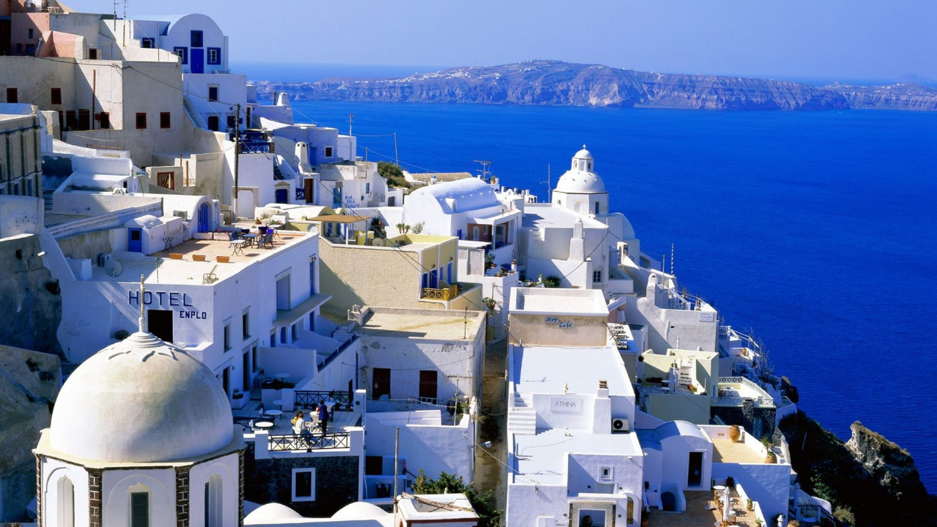 Santorini Wallpaper 1920x1080 HD Wallpaper Background Images 1920x1080