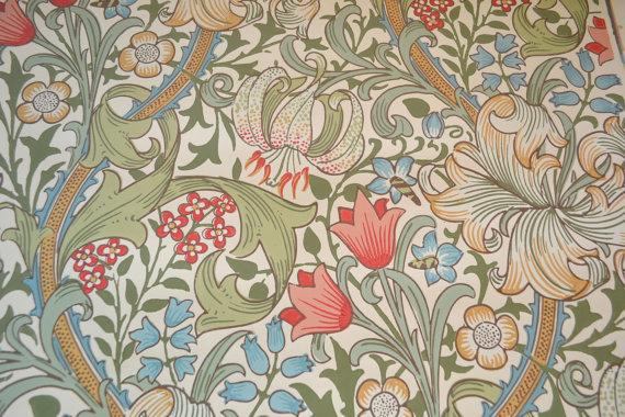 Morris Co Wallpaper   Jacobean Lilly Tole   22 x 26 Wall Paper 570x380