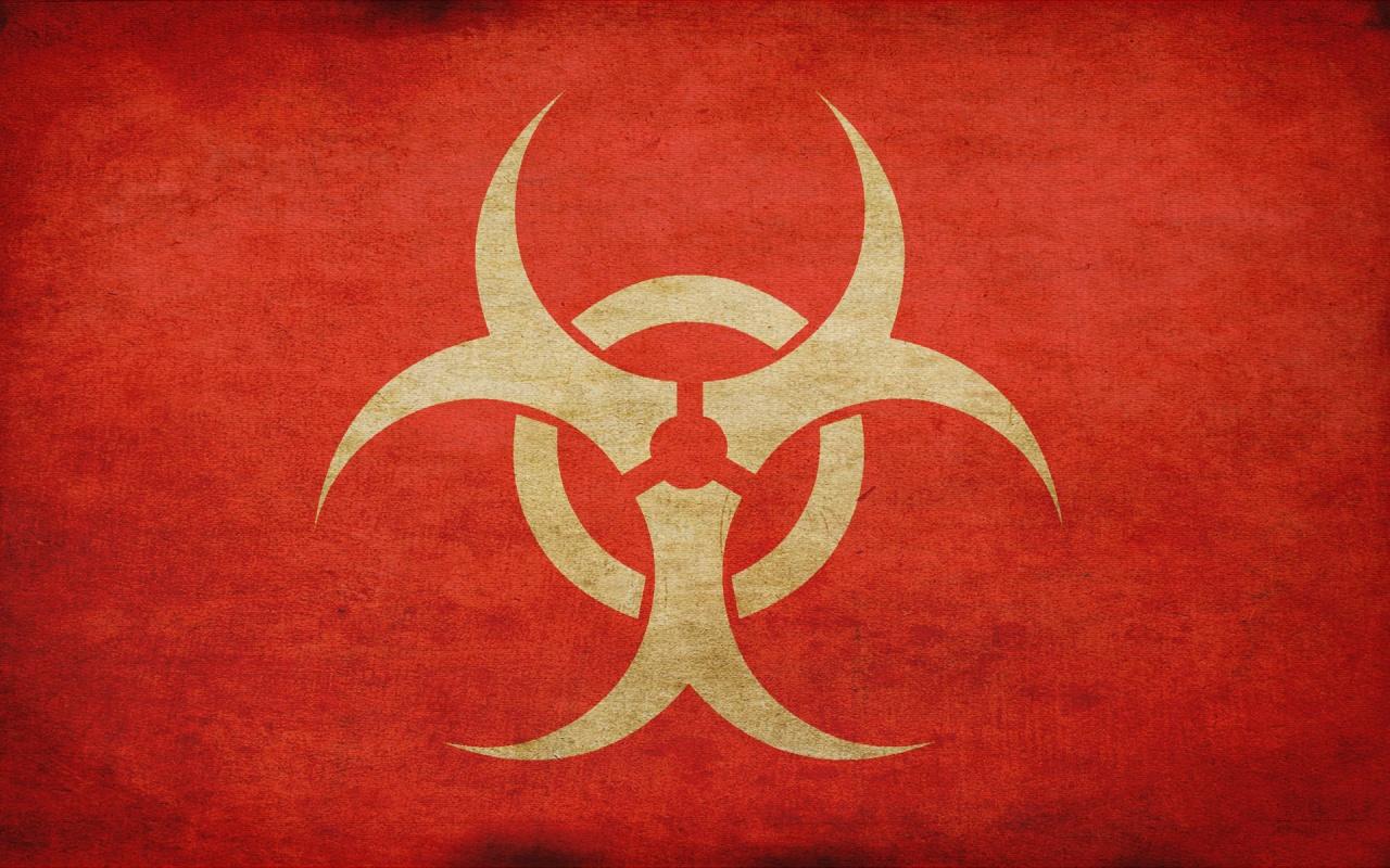Biohazard Warning Signs Logo HD Wallpapers HD Wallpapers 1280x800