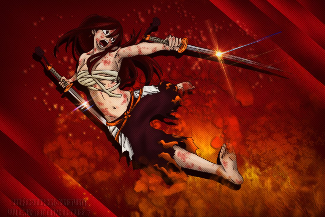 Erza Scarlet [Fairy Tail] Wallpaper by Crisscross17 1095x730