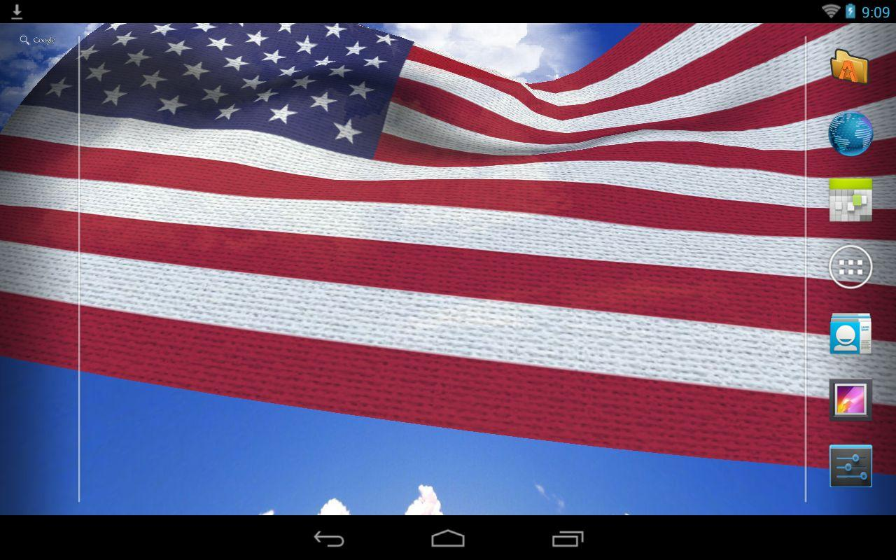 Free Download 3d Us Flag Live Wallpaper Android Apps On Google