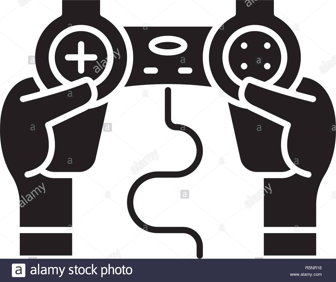 Joystick control black icon vector sign on isolated background 1300x1090