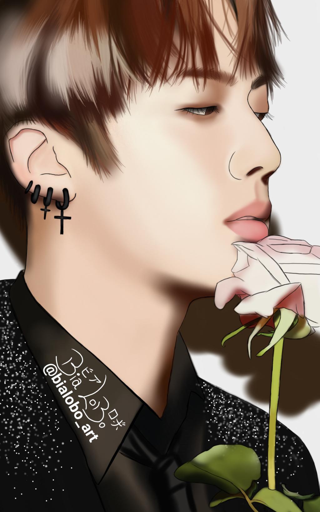 Jin BTS fanart byBiaLobo by BiaLobo 1024x1638