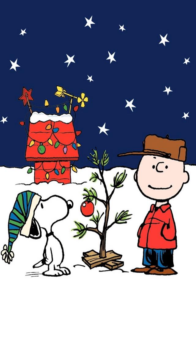 Peanuts Charlie Brown Christmas iPhone 5 Wallpaper iPod Wallpaper HD 640x1136