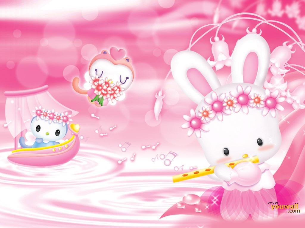 Baby Background Wallpaper Pink 1024x768