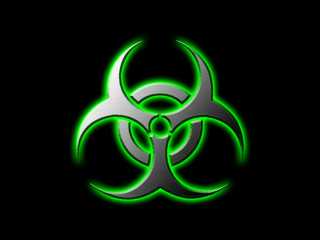 Cool Biohazard Symbol Wallpaper Green biohazard by 1024x768