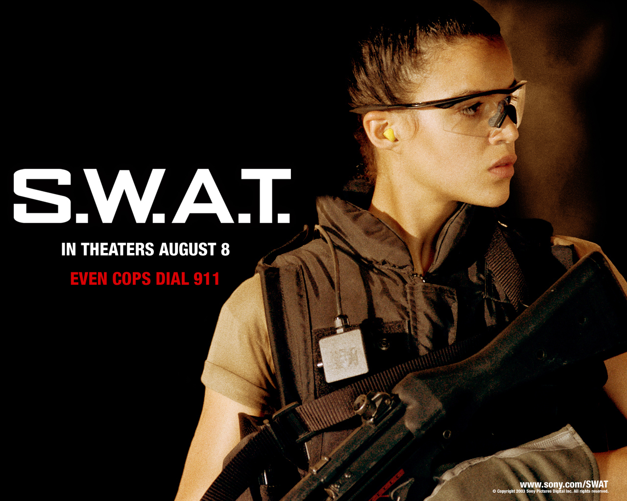 Michelle Rodriguez Michelle Rodriguez in SWAT Wallpaper 1280x1024