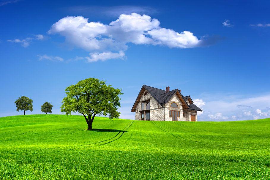 Paisaje naturaleza verano hogar casa rboles cielo nubes 909x606