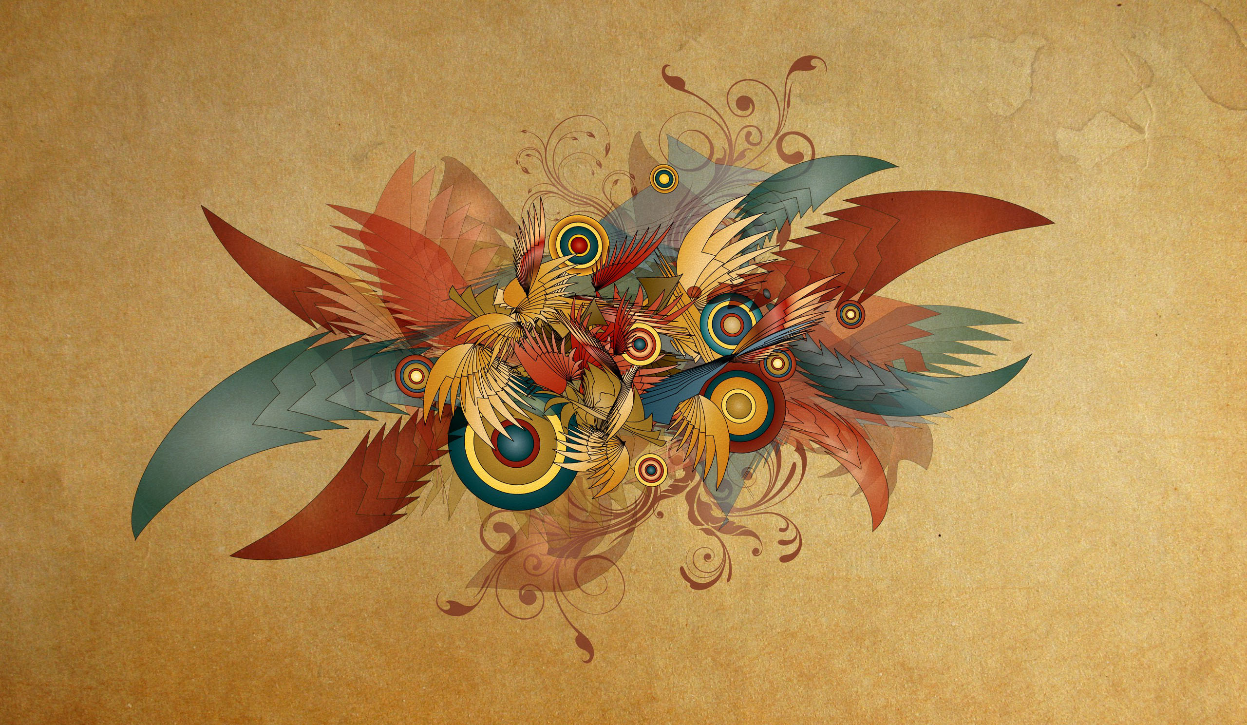 Abstract Feather Digital Art Wallpapers HD Desktop and Mobile 2560x1488