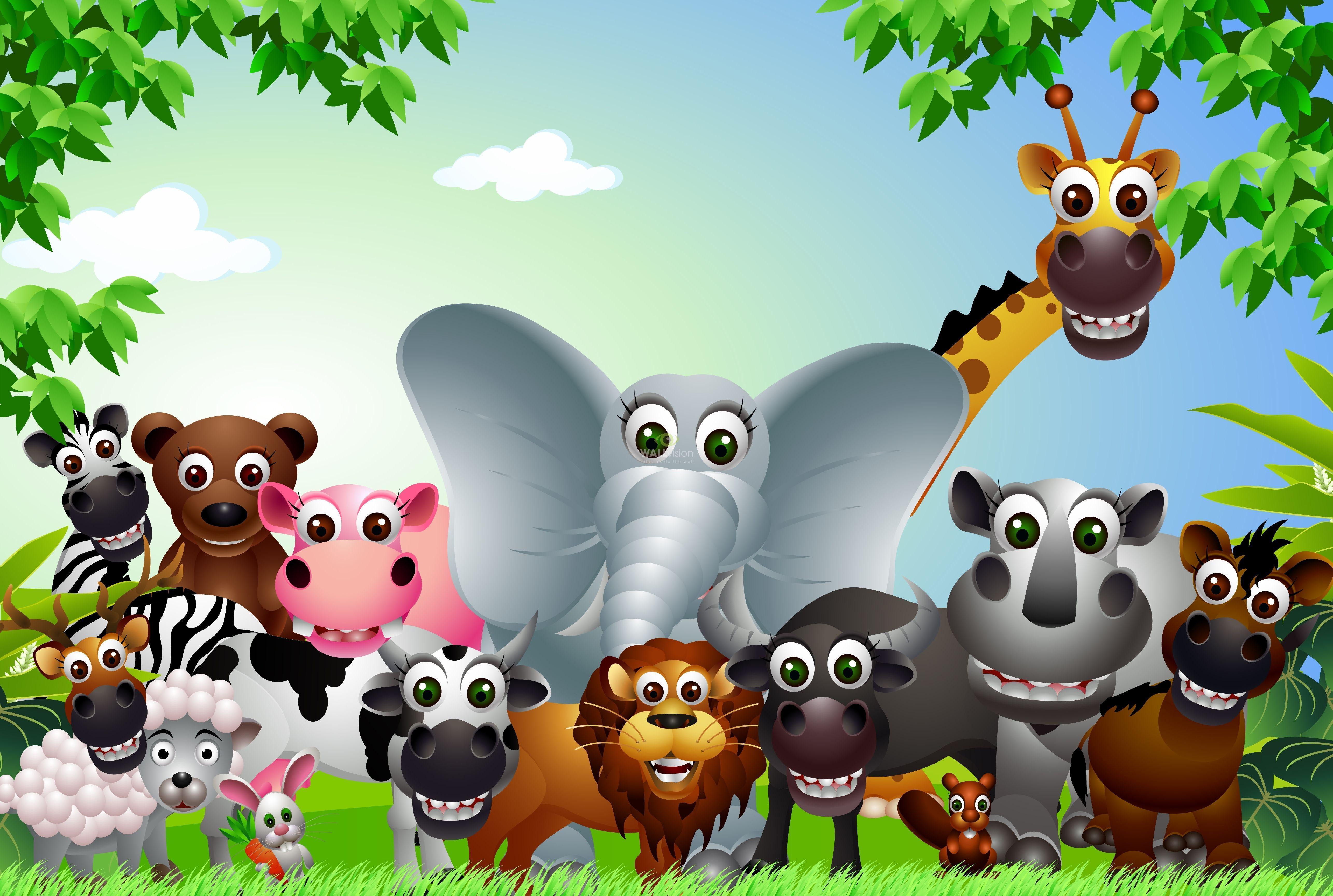Cartoon Animals Wallpapers   Top Cartoon Animals Backgrounds 5142x3457