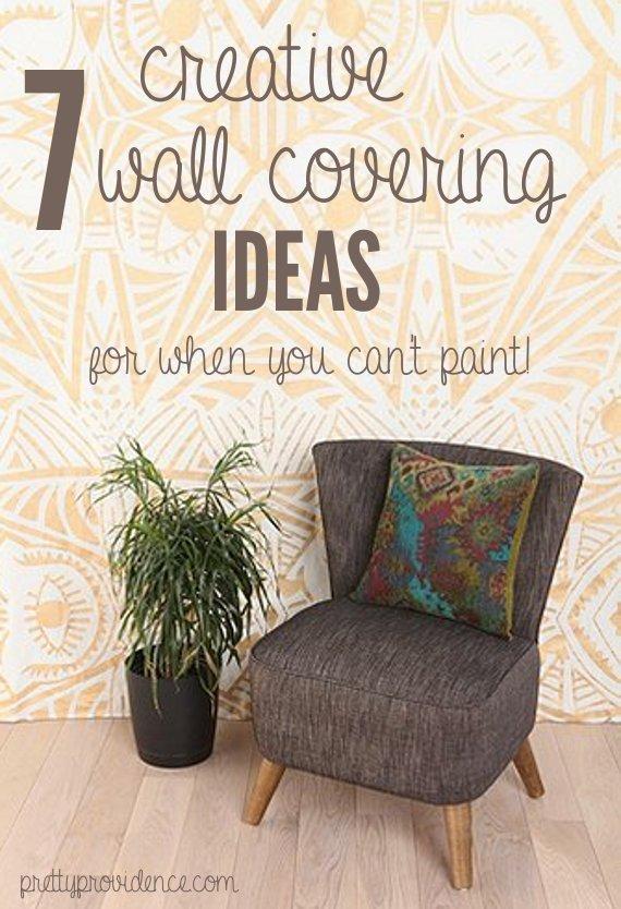 wallpaper DIY removable fabric wallpaper etc lots of good ideas 570x834