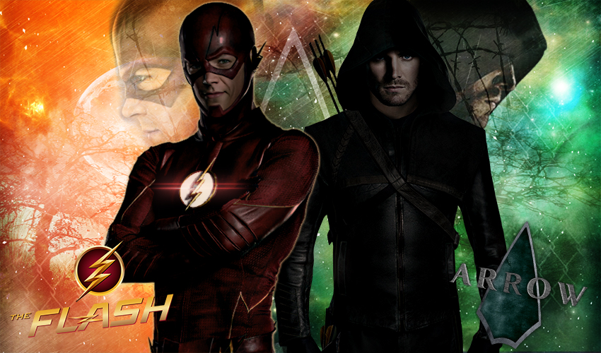 Flash vs The Arrow Wallpaper by Erionbucagraphic 850x500
