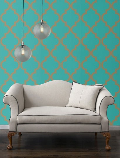 MG Decor Removable Wallpaper For NYC Apartment Renters Midtown Girl 410x540
