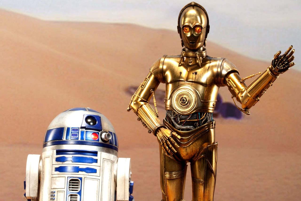 R2d2 And C3po In Movie Star Wars R2D2 Wallpap...
