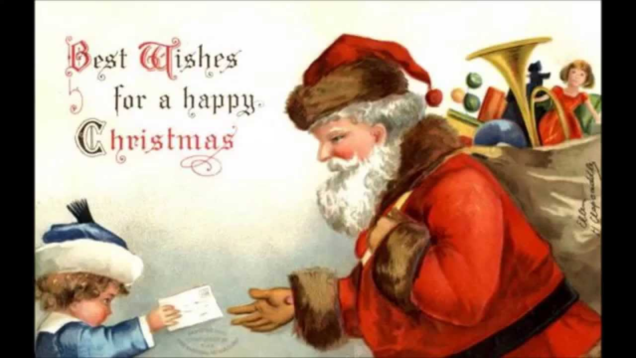 Merry Christmas Animated Greeting Card WishesSanta claus greeting 1280x720