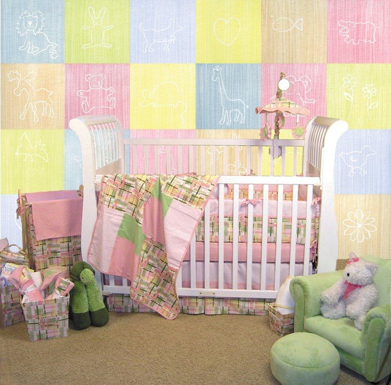 Wallpaper for baby 39 s room wallpapersafari for Baby mural wallpaper
