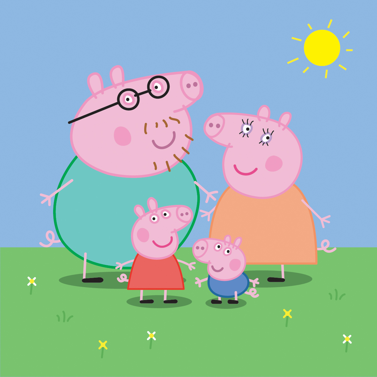Peppa Pig Family Vettoriali Gratisit Vectors 1200x1200