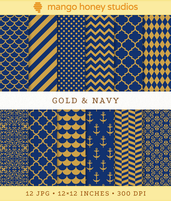 Navy Blue And Gold Background Gold and navy digital paper 570x670