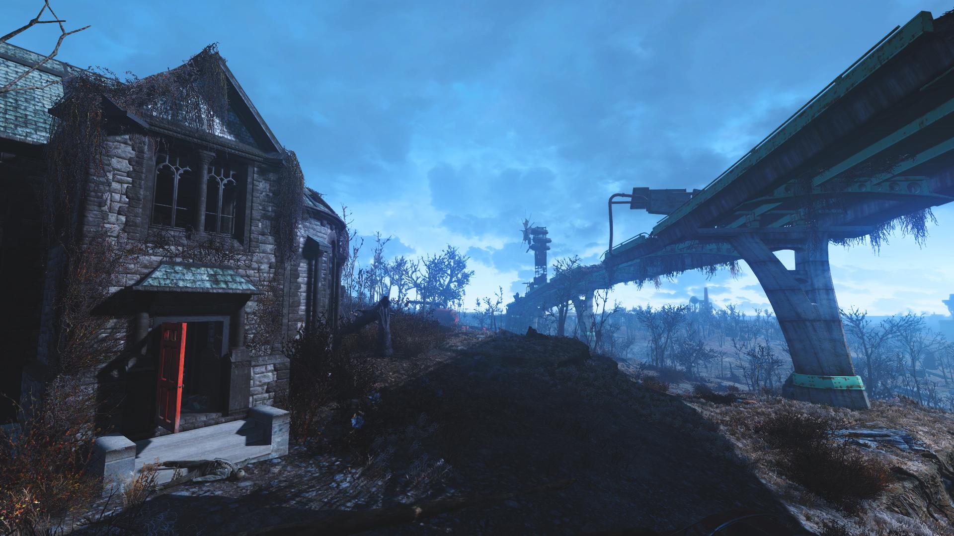 Fallout 4 HD Wallpaper Creepy House 1920x1080