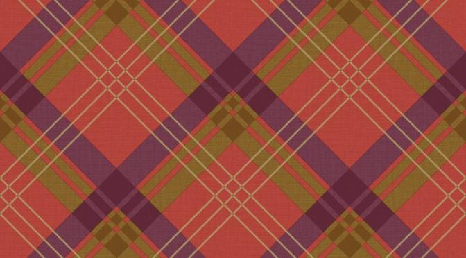 Arthouse Fairburn Tartan Check Wallpaper Red Plum 672x372