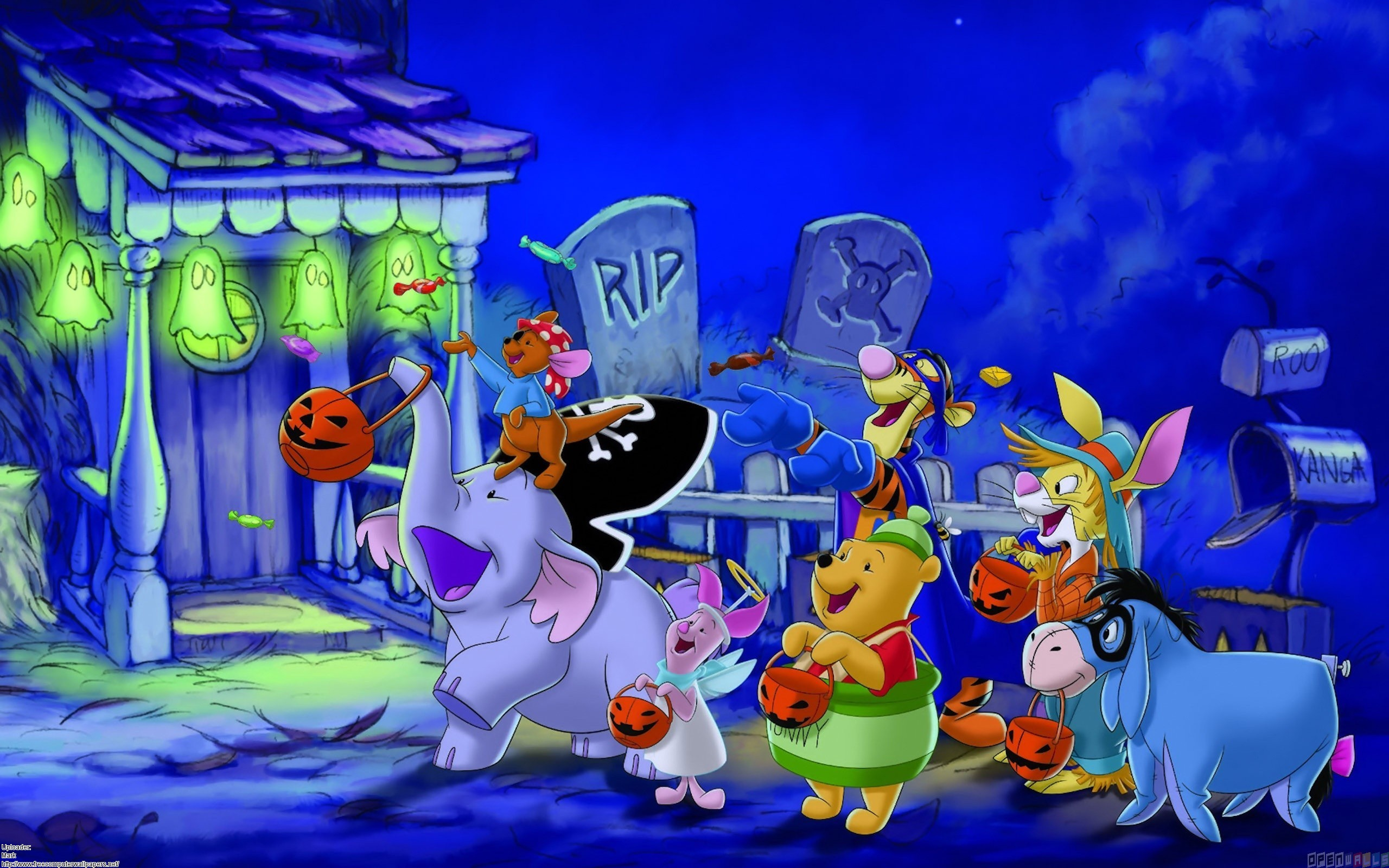 Disney Halloween trick or treating for candy 2560x1600