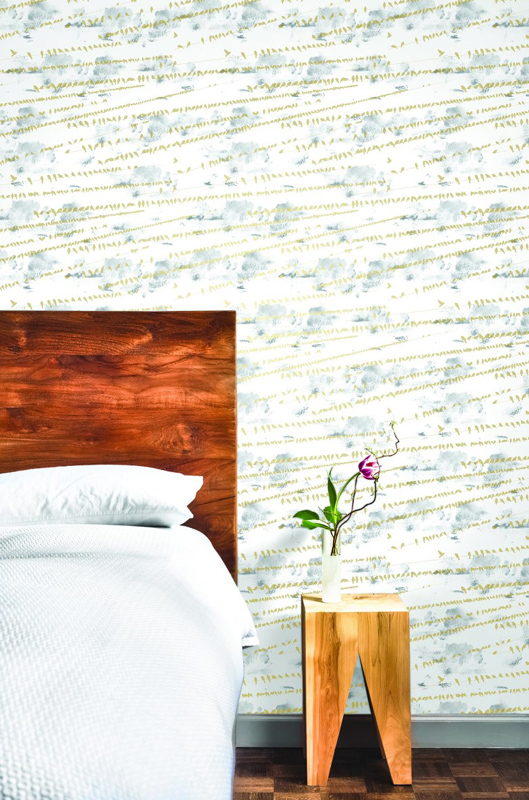 Flock Sunrise Gold Removable Wallpaper by Tempaper 529x800